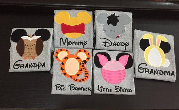 Personalized Tsum Tsum Pooh Machine Embroidered Shirt