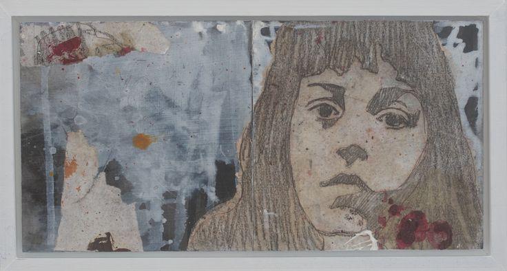 Irina Schuvaloff, A new spring I 2015, mixed media on MDF-board