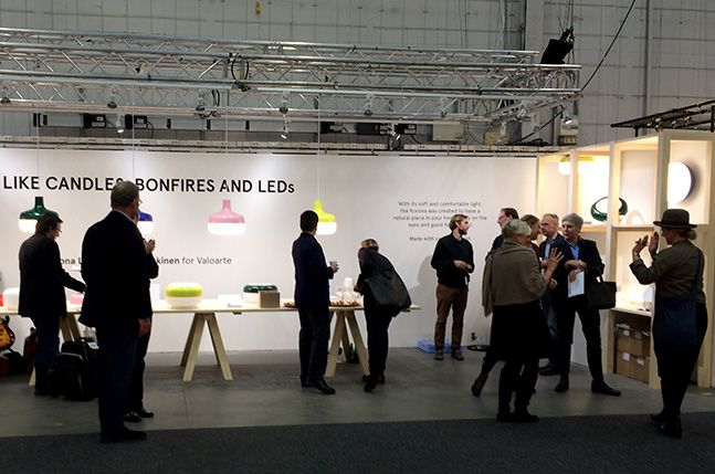 Our booth at Stockholm Furniture & Light Fair 2014 –  B11:32 – where we display the Korona Light by Harri Koskinen for Valoarte  #2014sff #2014sdw