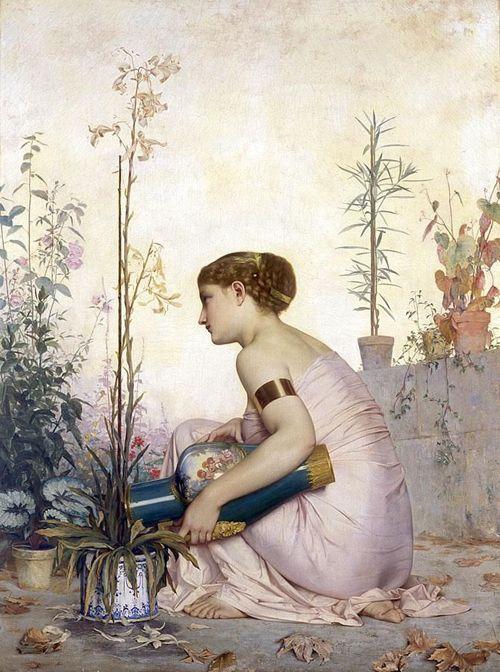 """sullenmoons:  """"Le lis est mort""""Adolphe Alexandre Lesrel1873"""