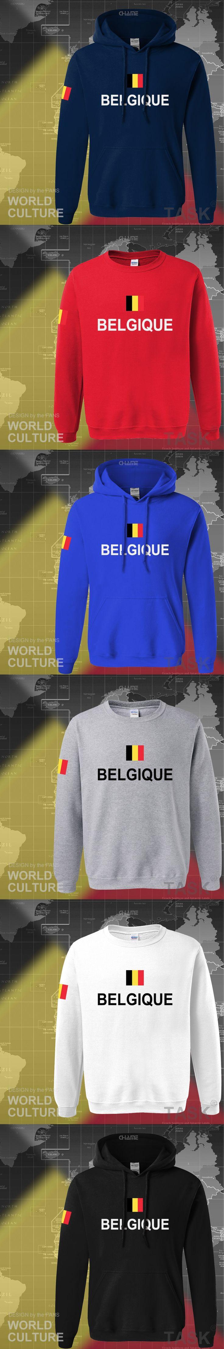 Belgium hoodie men 2017 sweatshirt polo sweat new hip hop streetwear clothing jerseys tracksuit nation Belgian flag BE belgique
