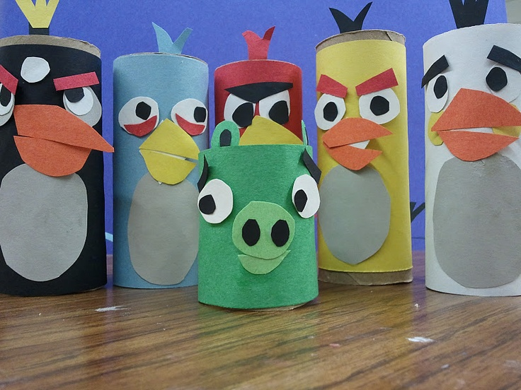 Angry birds project 5th grade art projects pinterest for Art from waste ideas for kids