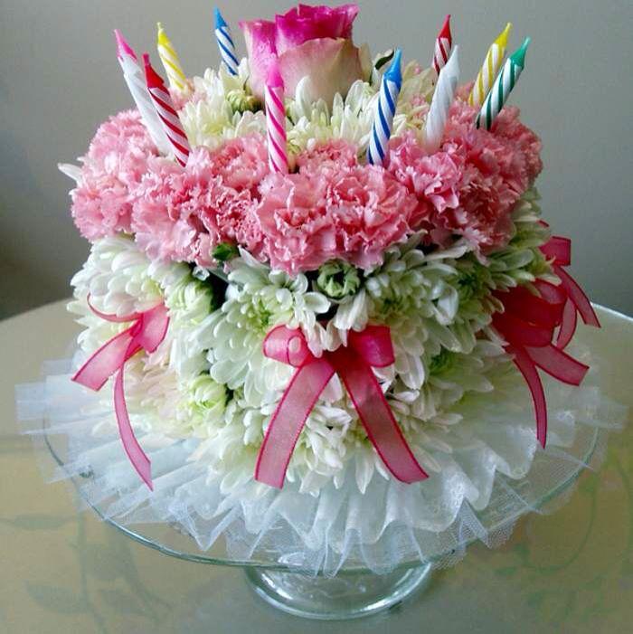 Fresh Flower Birthday Cake Birthday Flower Cake