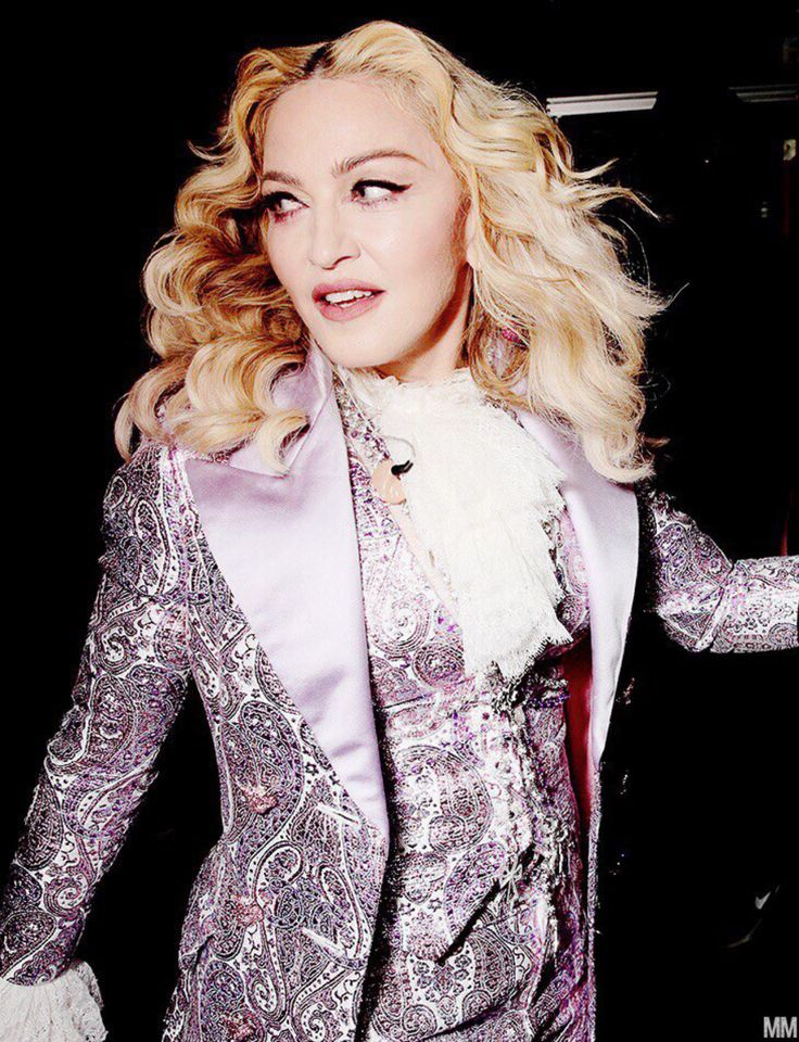 Madonna at backstage of the Billboard Music Awards 2016.