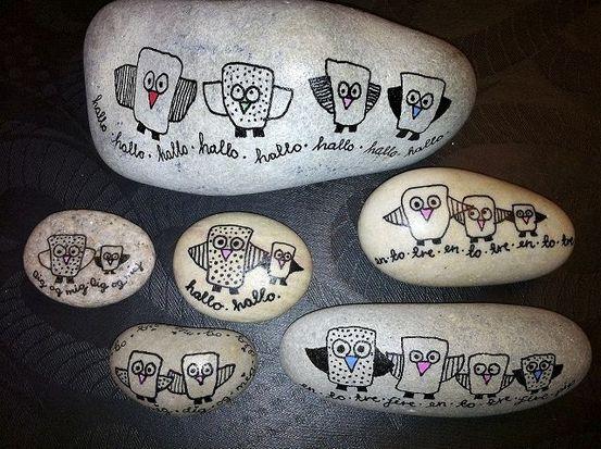 SE BILLEDERNE: Lær at male på sten - Lokalavisen Varde