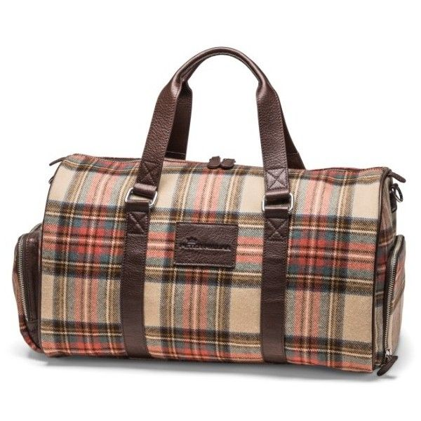 Men's Peter Millar Mountainside Duffel Bag ($495) ❤ liked on Polyvore featuring men's fashion, men's bags, plaid, men's duffel bags, mens leather bag, mens leather duffel bag, mens duffle bags and mens bag