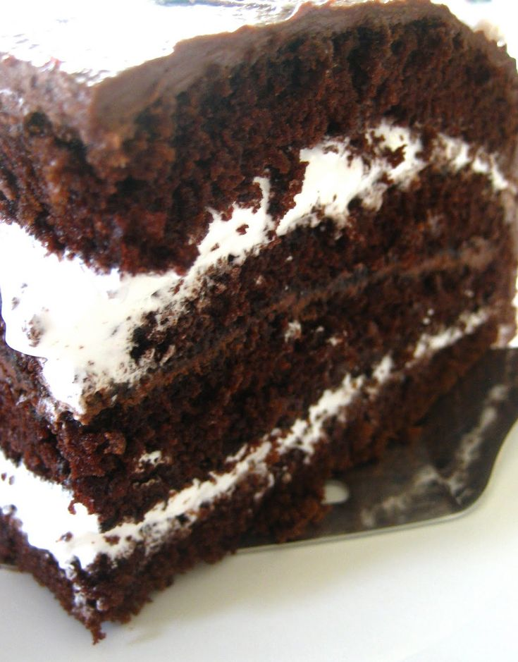 Little Debbie's Cake, they call it a Twinkie cake in the recipe, but Twinkie's aren't chocolate.