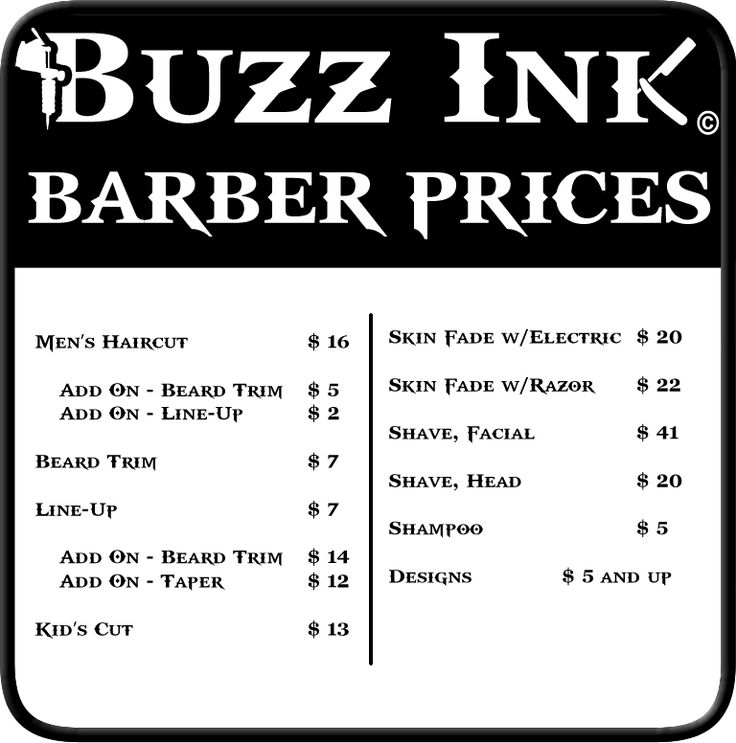 Haircut Prices