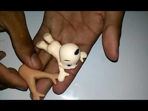 DIY-Bebê de Biscuit com bumbum para cima