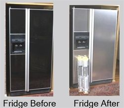 Stainless Steel Side x Side Refrigerator Cover $84.95 Appliance Art.com