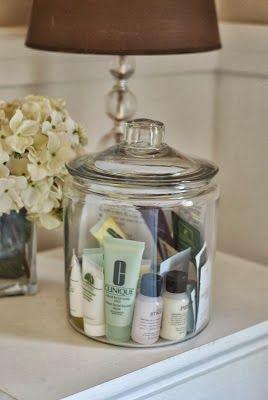 Guest Bathroom Goodie Jar