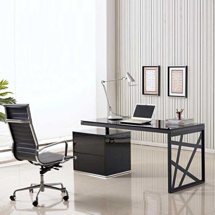 httpeyyc17commodern glass office desk - Modern Home Office Glass Desk
