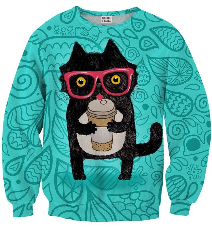 Coffee Cat sweater, Mr. GUGU & Miss GO