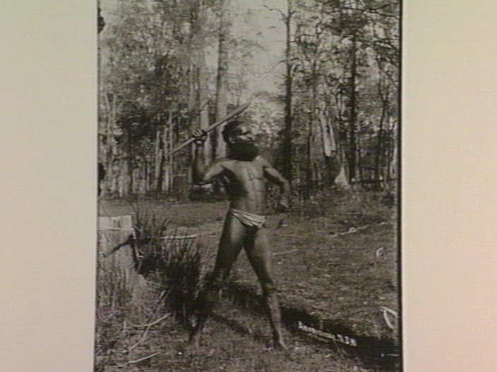 Aboriginal [man holding weapon, Richmond River] N.S.W. [picture] , State Library of Victoria