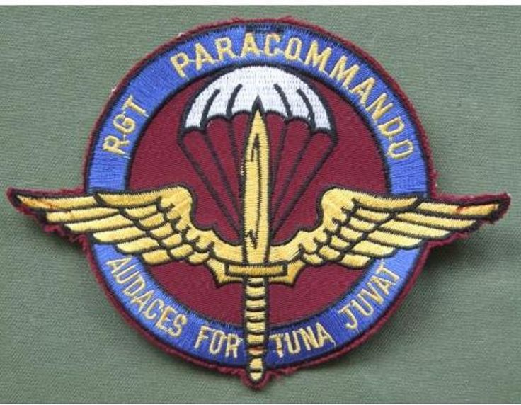 Belgium Para-Commando Regiment Patch the patch is in near ...