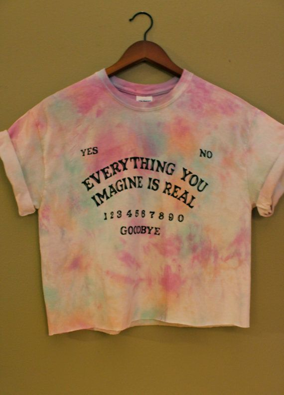 Ouija Board Inspired Tie Dye Crop Top by shopCarrion on Etsy, $15.00
