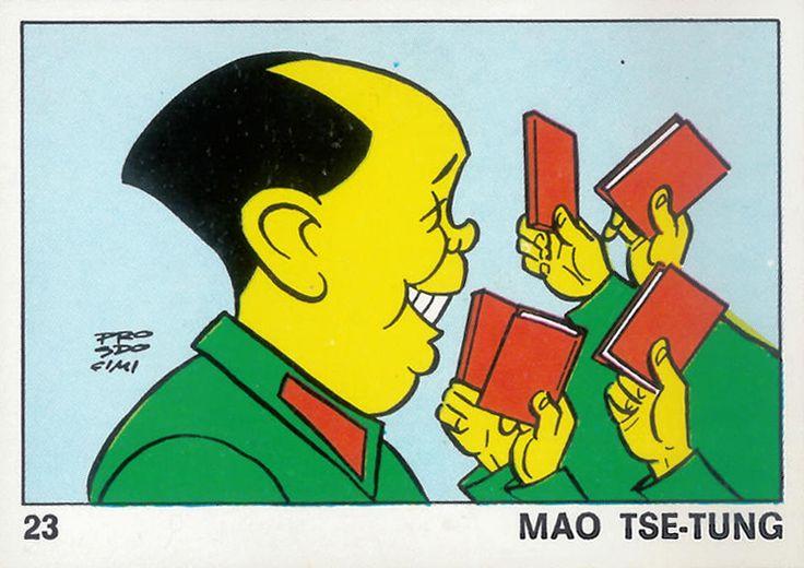 Mao Tse-Tung, 1973; figurina Panini, su disegno di Bruno Prosdocimi