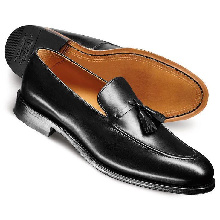 Charles Tyrwhitt-black tassel loafers nice.
