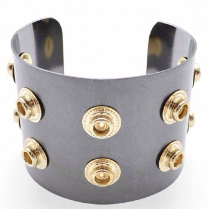 B921GDHE Hematite Snap Cuff Bracelet from Turn Her Style, LLC for $28.25 on Square Market