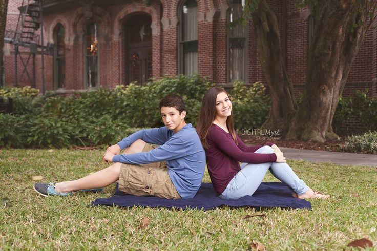 Alex and Samantha formed the perfect brother sister pose for fall family photos this year.  DigitalMyst Photography of Tampa specializes in children and family photography.  Posing ideas for older siblings.  Brother and sister shots.  How to pose family members during photo sessions.  Tampa photography ideas.  Family photo ideas.  #digitalmystphotography www.digitalmystphotography.com