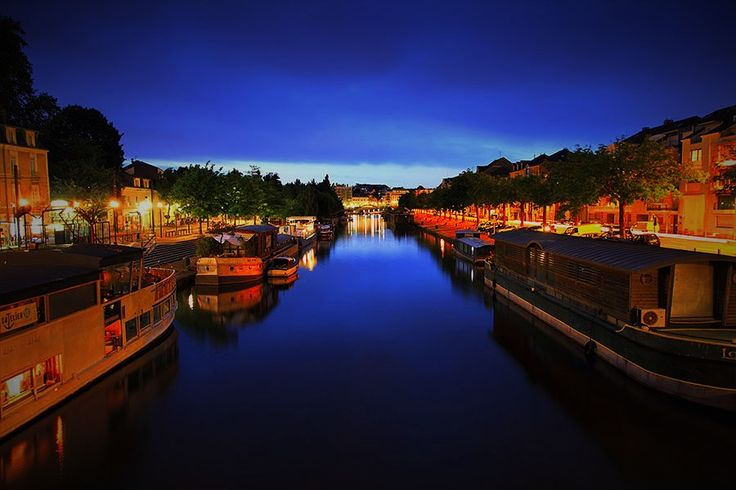#France, #Nantes by night