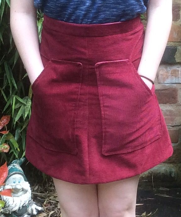 This skirt was made from Love Sewing Magazine Issue 18. It is a great fit and comfortable to wear. The large pockets on the front of the skirt are very spacious, as well as adding a wonderful feature to the skirt.