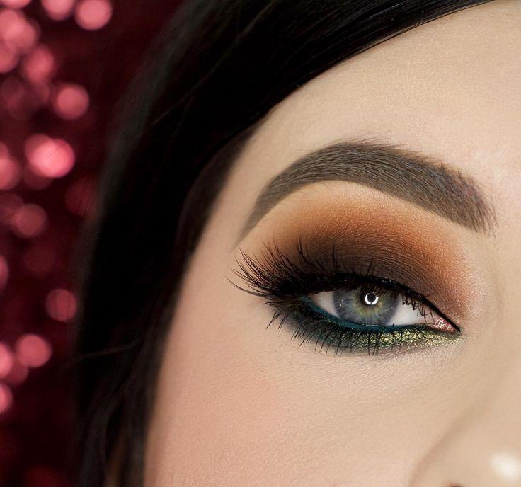 Makeup Geek Eyeshadows in the shades: Chickadee, Morocco, Cocoa Bear, Bada Bing, Corrupt, Envy and Typhoon. Makeup Geek Full Spectrum Eyeliner in Ocean. Look By: beautybypaisley.