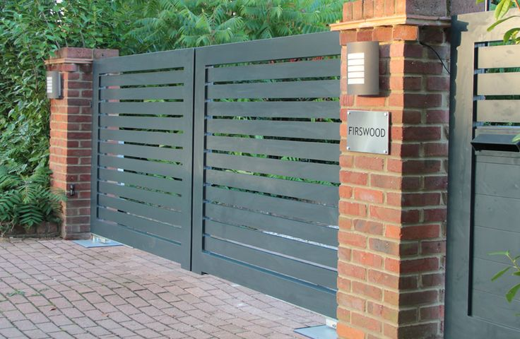 Contemporary aluminium swing gates