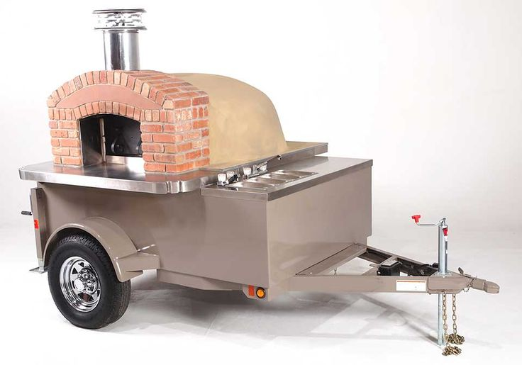 wood fired oven trailer