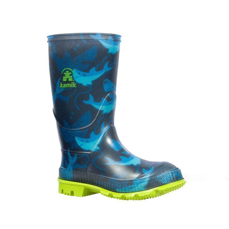 Kamik Stomp2 Rain Boot - Blue Sharks