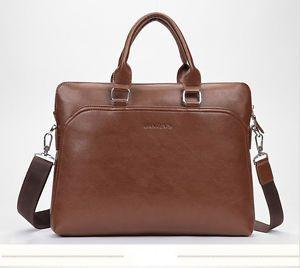 Men's Leather Briefcase Laptop Handbag Crossbody Satchel Shoulder Business Bag