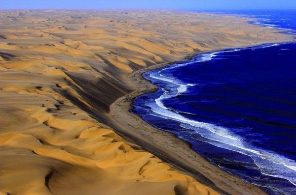 Get inspired by the place where the desert meets the ocean in the Namib desert, located in the southwestern region of Africa. The highest sand dunes in the world are met by the Atlantic Ocean's crisp waves and we are left breathless. Bright pinks and oranges softly kiss the sweet ocean air.