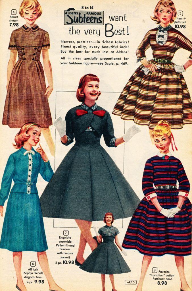 Sub Teen Fashion 1957 Theatrical Costuming Pinterest