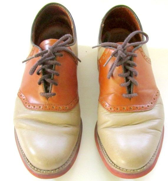 Vintage Mens Saddle Shoes Tan and Brown with by nanascottagehouse, $79.99