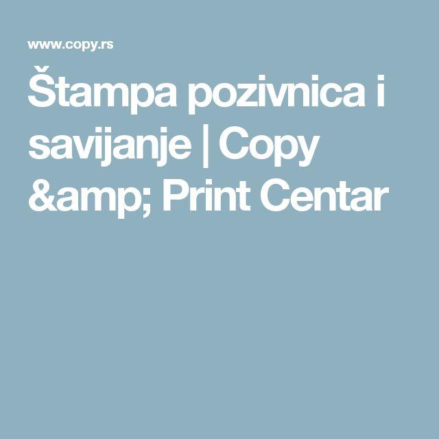 Štampa pozivnica i savijanje | Copy & Print Centar