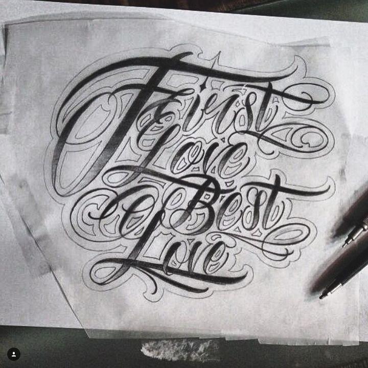 First love is the best love Custom Lettering #tattoo #tattoos #tattooing #tattooer #tattooist #letter #letters #lettering #script #scripts #dövme #dovme #dövmeci #dovmeci #yazı #yazıdövmesi #isim #istanbul #kadıköy #fenerbahçe #cadde #caddebostan #yazı #dövmeleri #harf #harfler #firstlove #best #love #aşk
