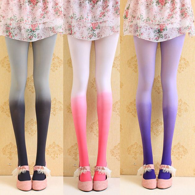 """Japanese sweet gradient color pantyhose, Use this coupon code """"Edin"""" to get all 10% off!"""