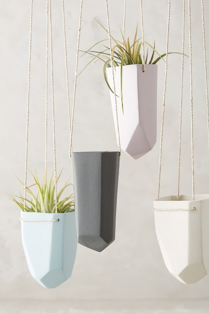 LOVE - get in the thin and maybe 1-2 wide. Crystal-Cut Hanging Planter - anthropologie.com