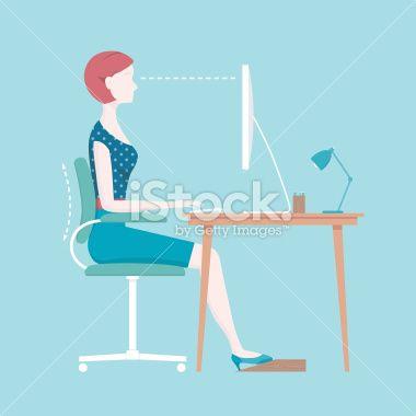 Proper Sitting Posture Royalty Free Stock Vector Art Illustration