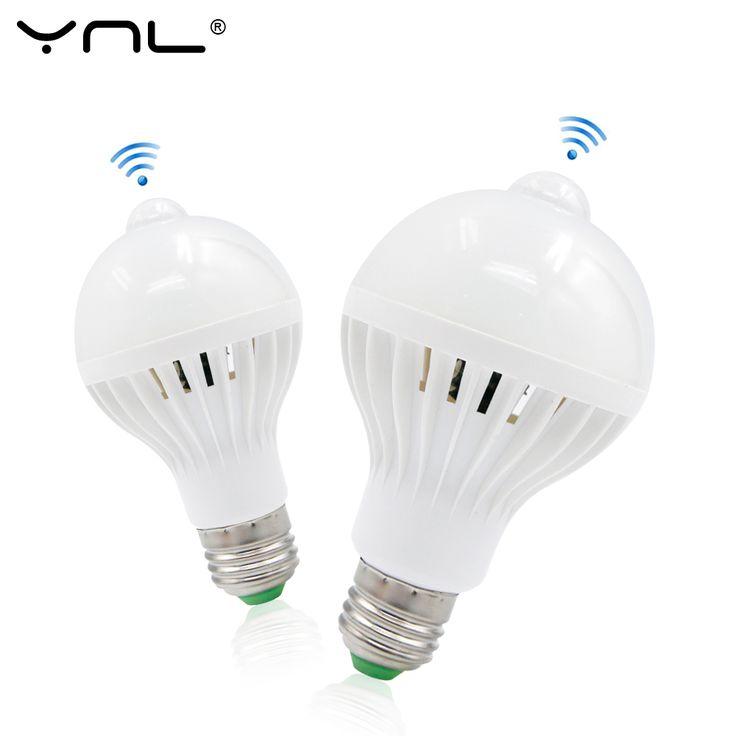PIR Motion Sensor Cahaya E27 220 V DIPIMPIN Lampu 5 W 7 W 9 W Bulb Auto Cerdas PIR Inframerah Tubuh Lampu Dengan Sensor Gerak lampu