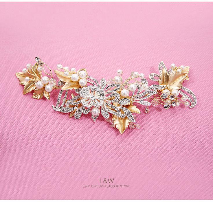 L & W Новая вспышка алмаз свадебный головной убор украшения для волос ручной работы свадебные ювелирные аксессуары Ретро оставляет ленты для волос аксессуары -tmall.com Lynx