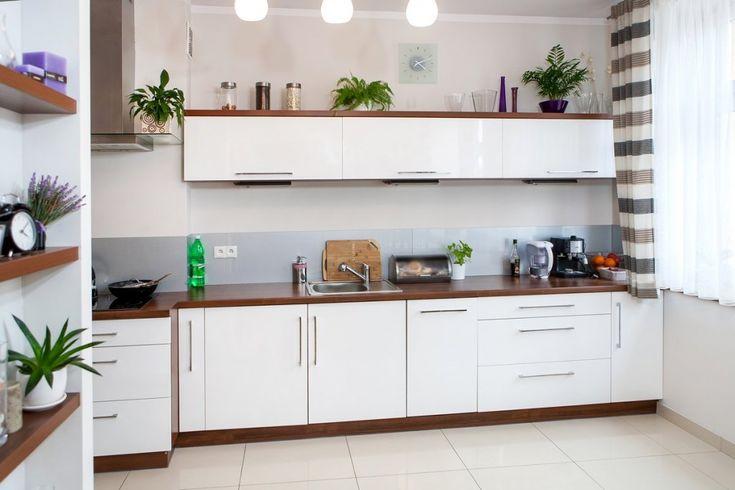 High gloss contemporary kitchen.