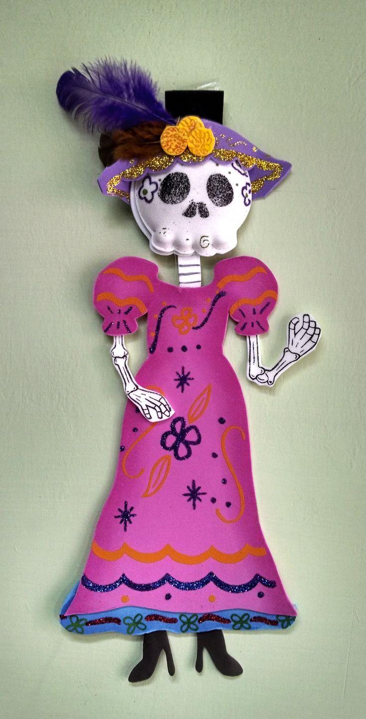 Calaca, vestido, calavera, catrina, rosa, adorno, plumas, dia, muertos, dia de muertos, dress, , pink, ornamental, feathers, day, dead, sombrero, hat
