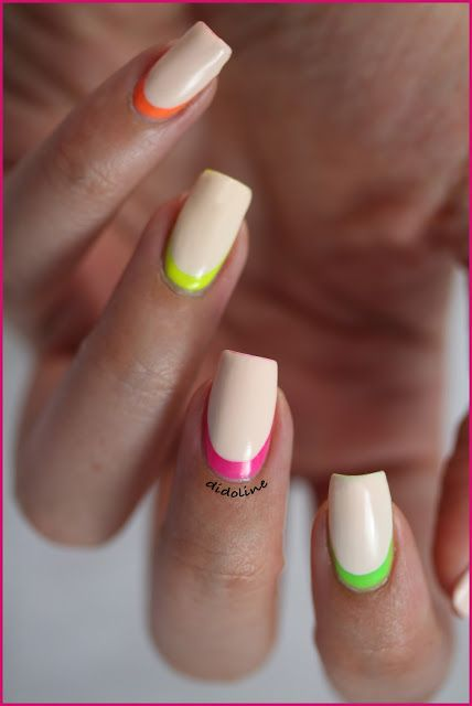 Neon Ruffian Manicure   #ruffian #manicure #neon