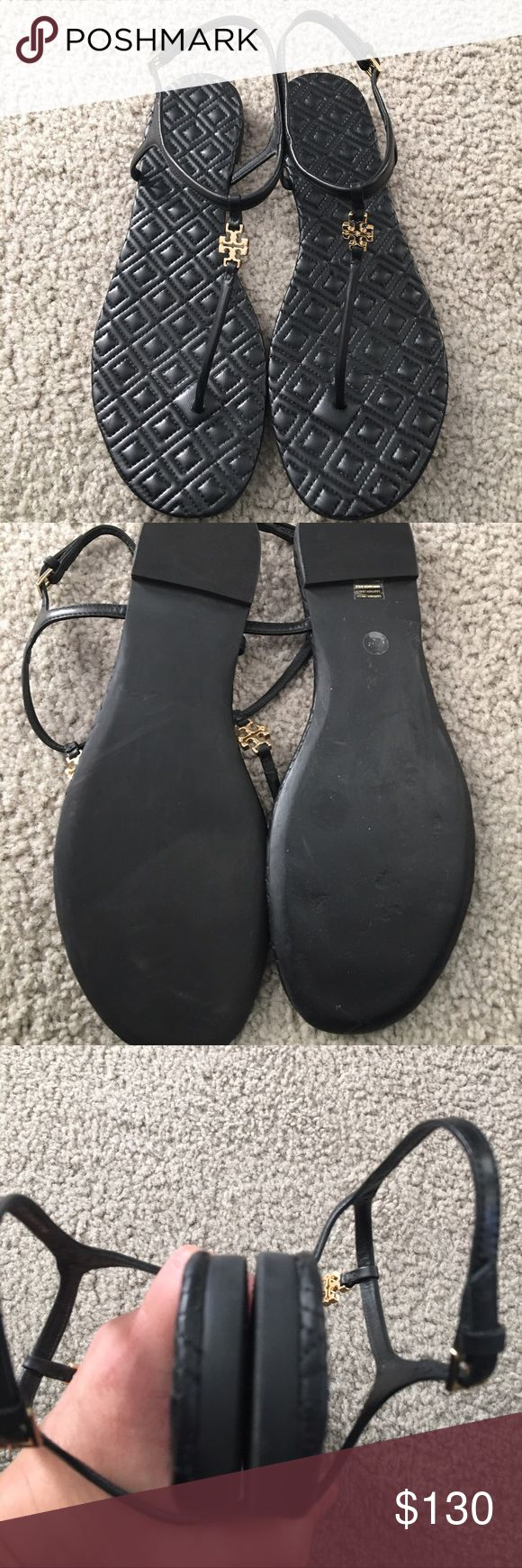 Tory Burch Thong logo sandals
