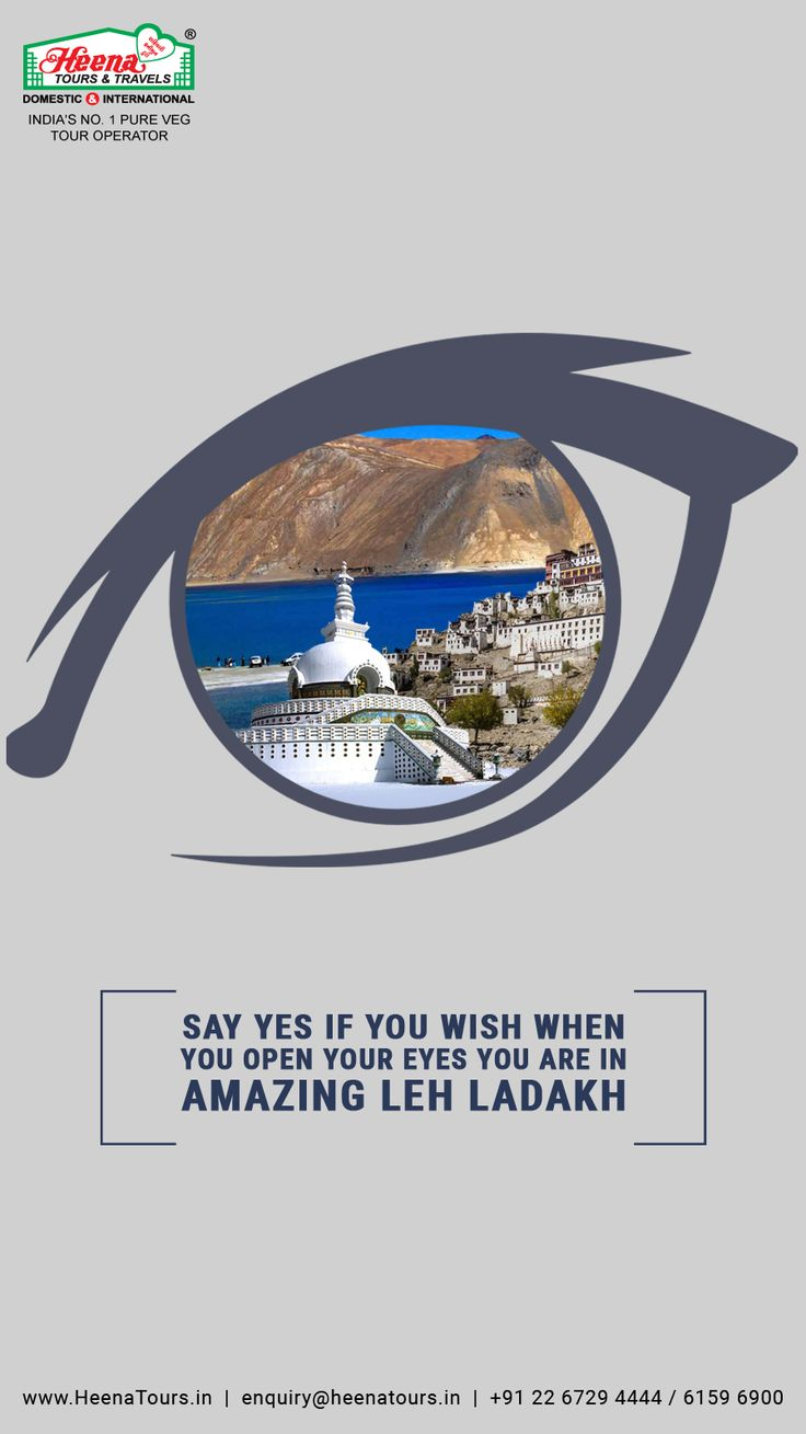 Say yes if you wish when you open your eyes you are in Amazing Leh Ladakh..!! So what are you waiting for? Realize your dream and Book Leh Ladakh