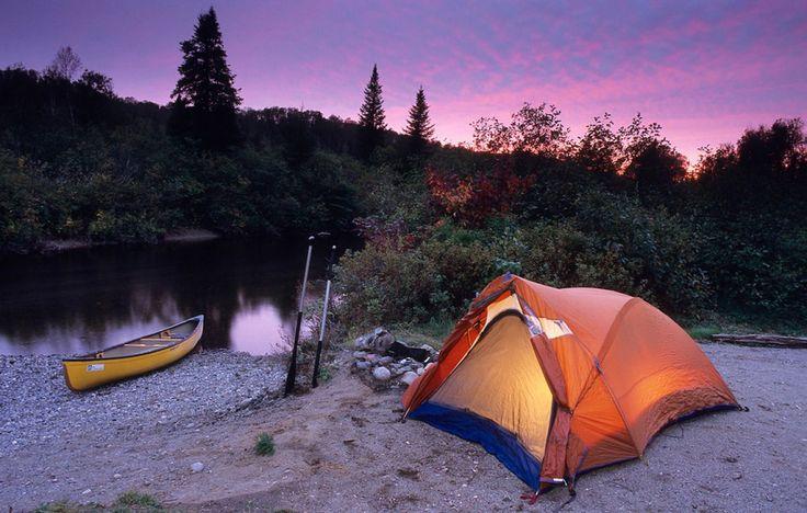 Top 10 des endroits pour faire du canot camping au Québec.