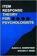 Psychometric Methods: Item Response Theory for Psychologists $29.98