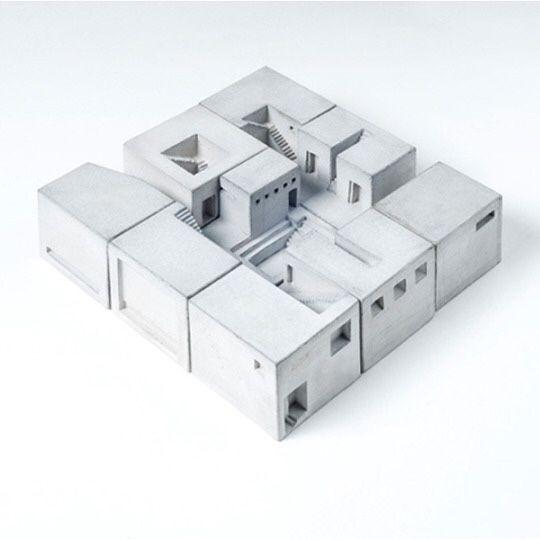 # miniature concrete building blocks  # Material Immaterial Studio