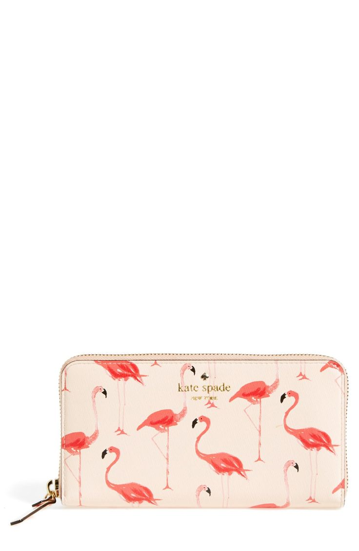Love the fanciful flamingo pattern of this cute Kate Spade wallet. @nordstrom